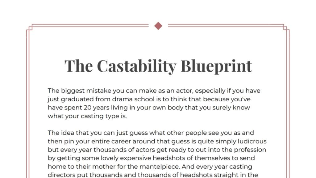 Castability Blueprint 16-9