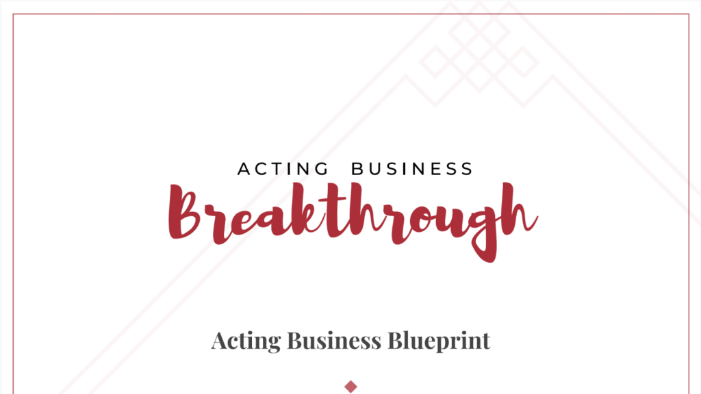 Acting Business Blueprint