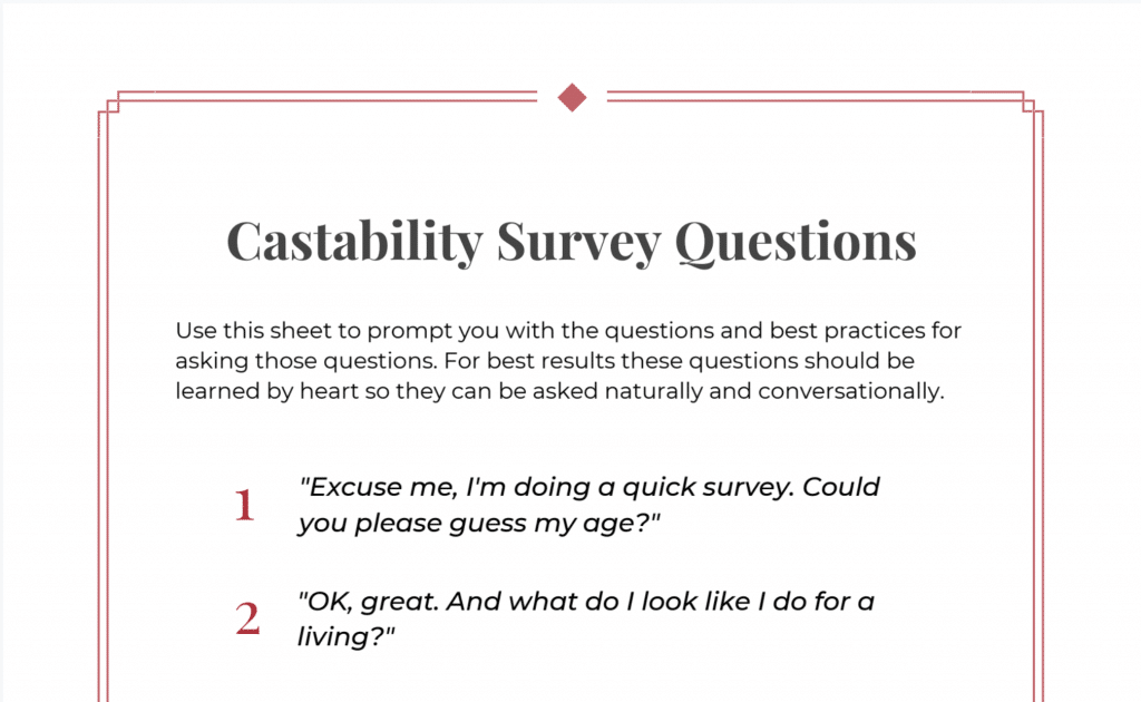 Castability Statement Questions