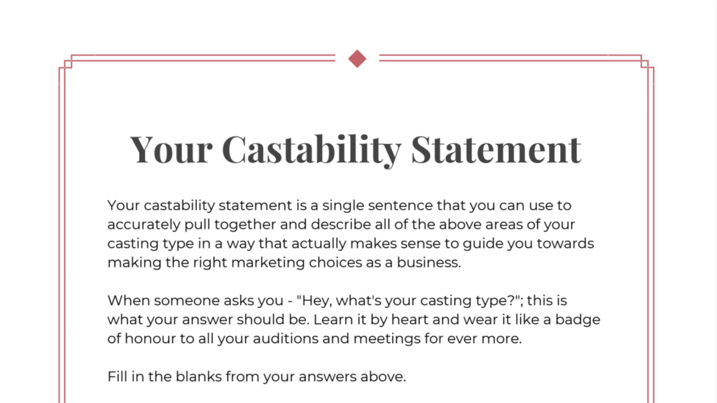 The Castability Statement Template pdf