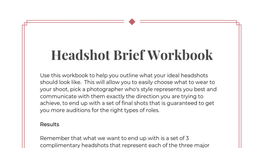 Headshot Brief Workbook Featured Image