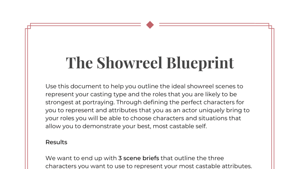 Showreel Blueprint Featured Image
